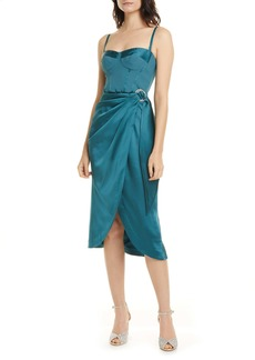 Jonathan Simkhai Crepe & Satin Bustier Dress