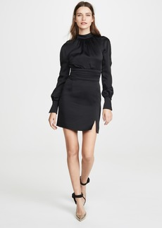 Jonathan Simkhai Crepe Button Sleeve Dress
