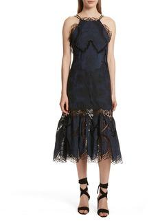 Jonathan Simkhai Crochet Cotton & Silk Dress