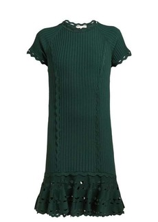 Jonathan Simkhai Cut-out hem stretch-knit dress
