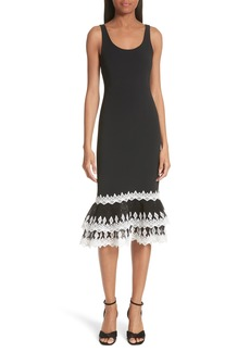 Jonathan Simkhai Diamond Crepe Appliqué Dress