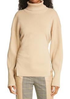 Jonathan Simkhai Eleanor Tie Back Turtleneck Sweater