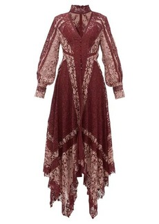 Jonathan Simkhai Embroidered-lace handkerchief-hem dress
