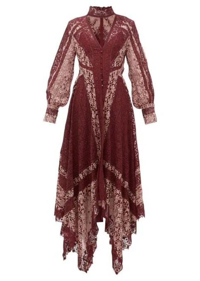 Jonathan Simkhai Embroidered-lace handkerchief-hem dress