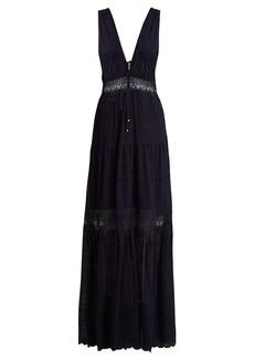Jonathan Simkhai Embroidered-lace silk dress