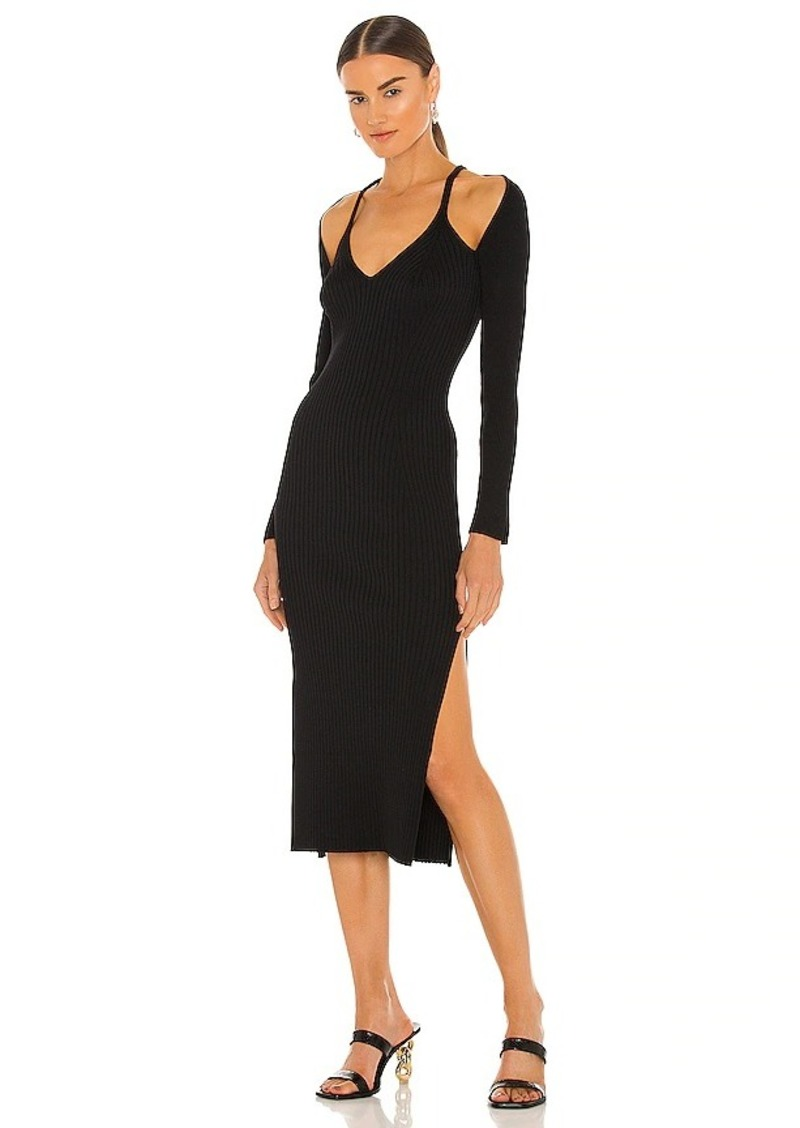 JONATHAN SIMKHAI Esperanza Compact Cut Out Dress