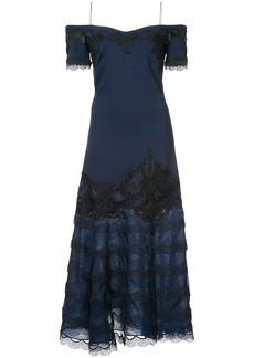 Jonathan Simkhai evening lace insert dress - Blue
