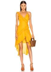 JONATHAN SIMKHAI for FWRD Hi Low Ruffle Dress
