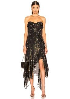 JONATHAN SIMKHAI for FWRD Strapless Ruffle Dress