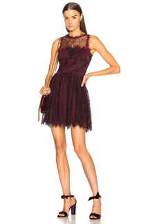 JONATHAN SIMKHAI Grommet Lariat Lace Mini Dress
