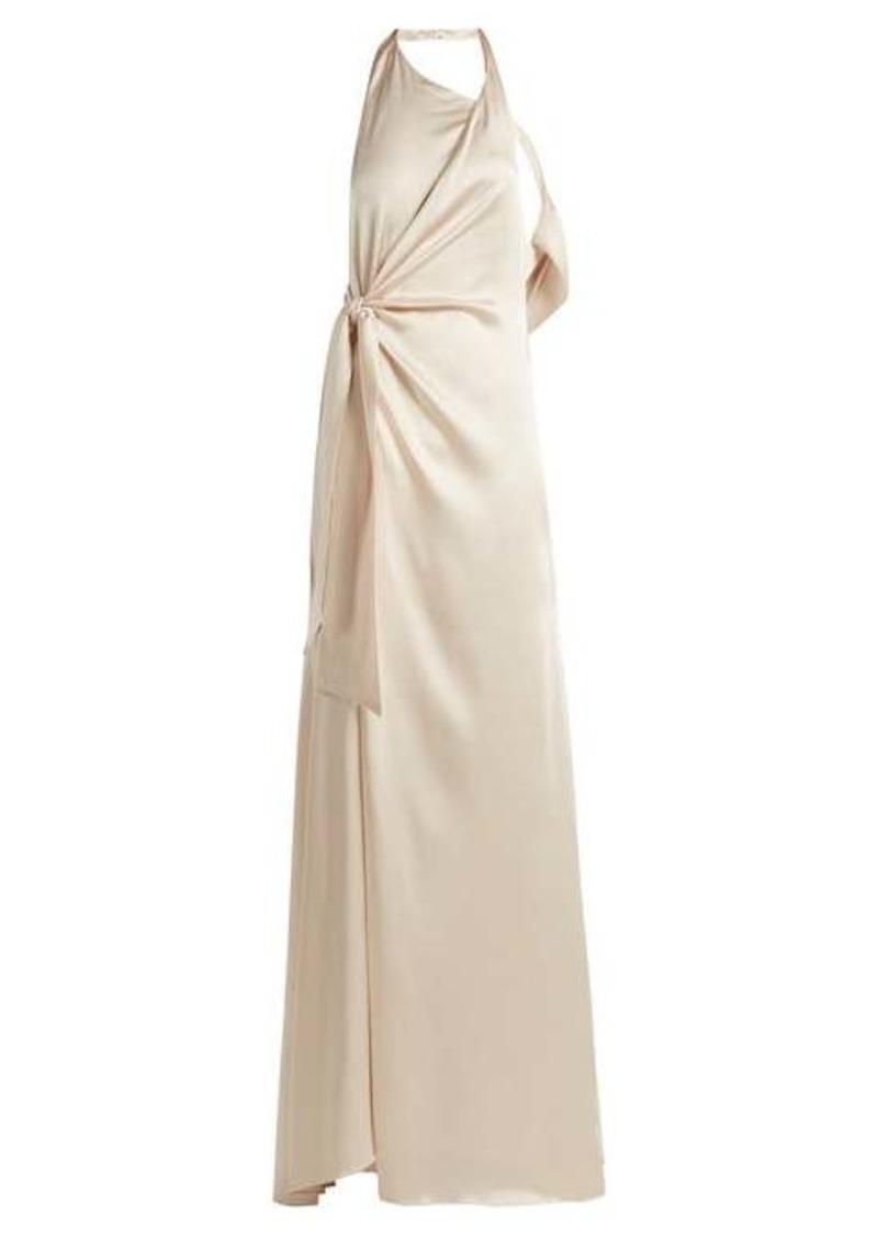 Jonathan Simkhai Halterneck satin gown