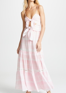 Jonathan Simkhai Hawaiian Sarong Bandeau Cutout Dress