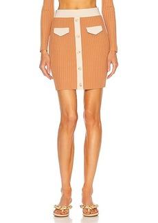 JONATHAN SIMKHAI Heather Cut Out Mini Skirt