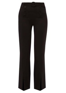 Jonathan Simkhai High-rise belted crepe trousers