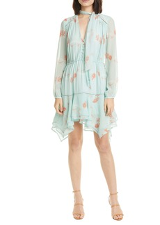 Jonathan Simkhai Irena Long Sleeve Silk Minidress