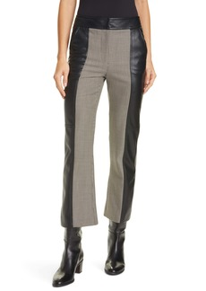 Jonathan Simkhai Kaia Houndstooth Faux Leather Crop Pants