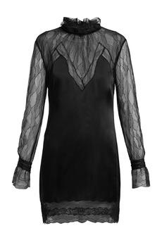 Jonathan Simkhai Lace and satin mini dress