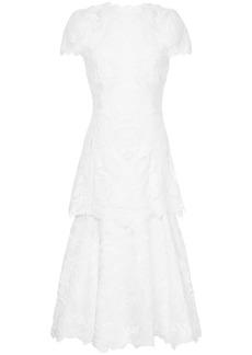Jonathan Simkhai lace-embroidered midi dress - White