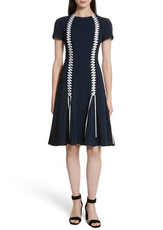 Jonathan Simkhai Lace-Up Crepe Dress