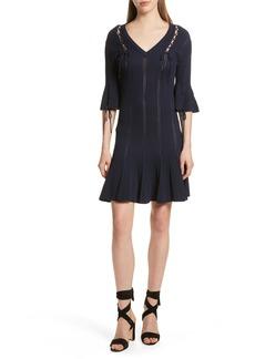 Jonathan Simkhai Lace-Up Detail Dress