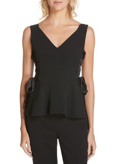 Jonathan Simkhai Lace-Up Side Crepe Top