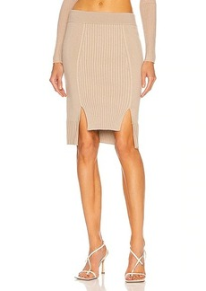 JONATHAN SIMKHAI Martha High Low Knit Skirt