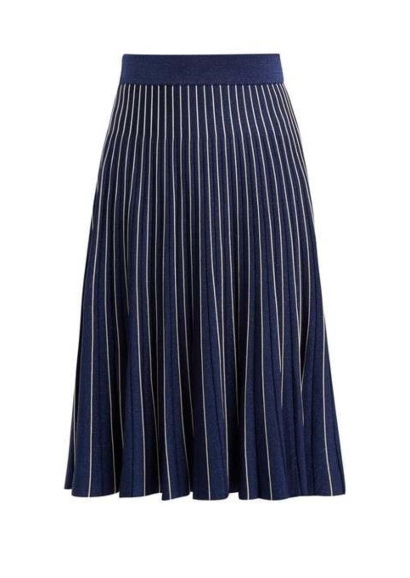 Jonathan Simkhai Mid-rise pleated midi skirt