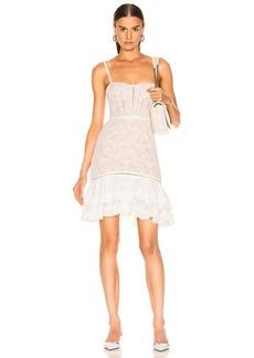 JONATHAN SIMKHAI Multimedia Corded Lace Ruffle Dress