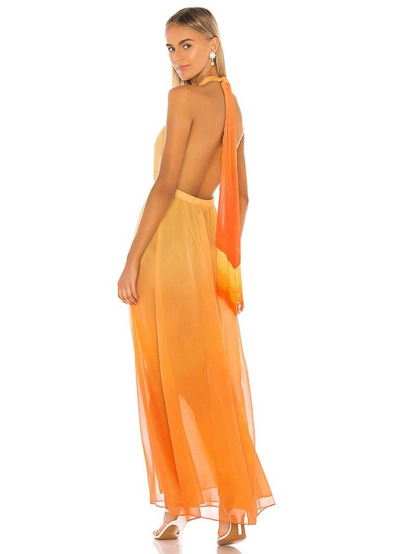 JONATHAN SIMKHAI Ombre Halter Maxi Dress