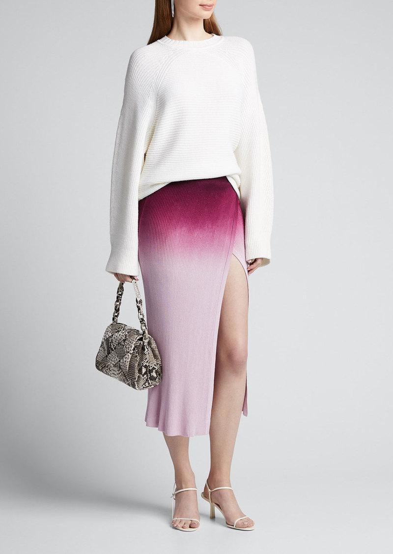 Jonathan Simkhai Ombre Wrap Midi Skirt