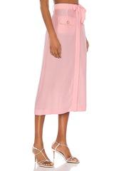 JONATHAN SIMKHAI Piped Luxe Front Slit Skirt