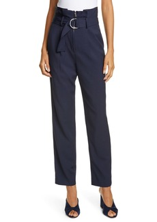 Jonathan Simkhai Pleated Waist Luxe Twill Pants