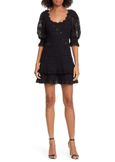 Jonathan Simkhai Puff Sleeve Crochet Lace Minidress