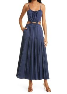 Jonathan Simkhai Rem Cutout Poplin Maxi Dress