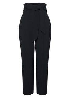 Jonathan Simkhai Remington High Waist Belted Tapered Trousers