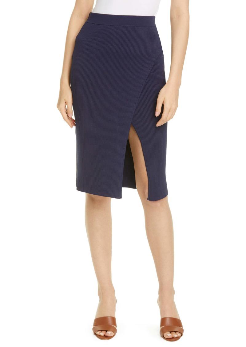 Jonathan Simkhai Rib Knit Wrap Skirt