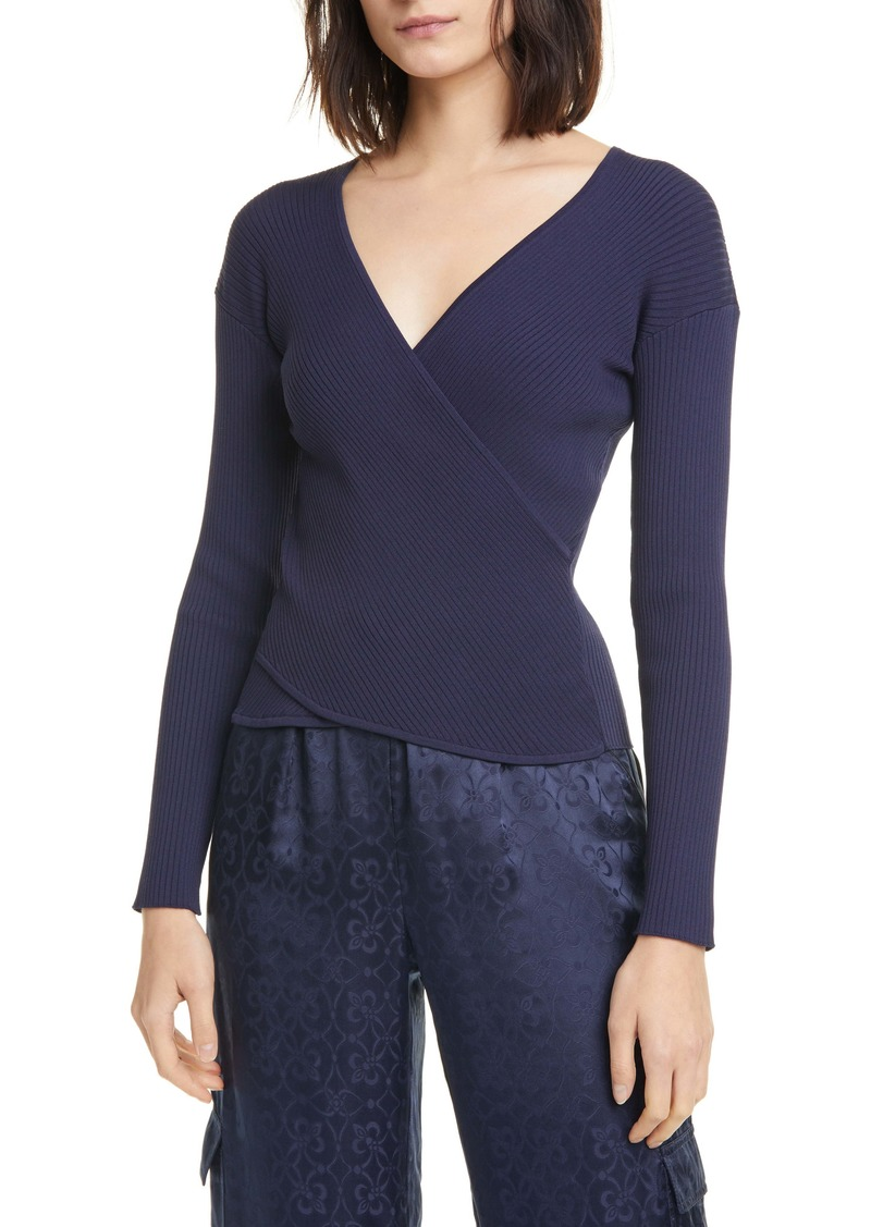 Jonathan Simkhai Rib Knit Wrap Top