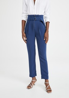 Jonathan Simkhai Rosalie Cocktail Crepe Belted Pants