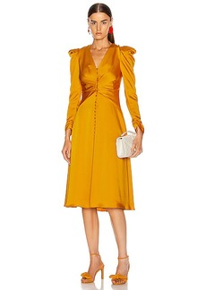 JONATHAN SIMKHAI Ruched Front Sateen Dress