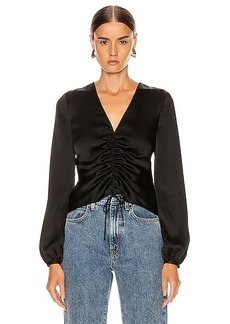 JONATHAN SIMKHAI Ruched Front Top