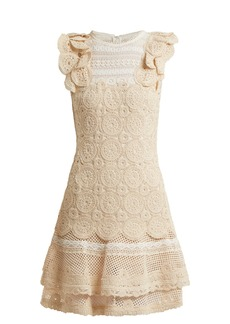 Jonathan Simkhai Ruffle-trimmed macramé-lace dress