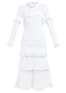 Jonathan Simkhai Ruffled crochet-lace dress