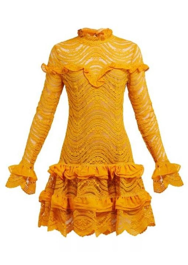 Jonathan Simkhai Ruffled floral-lace mini dress