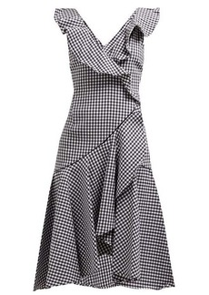 Jonathan Simkhai Ruffled gingham cotton-blend dress
