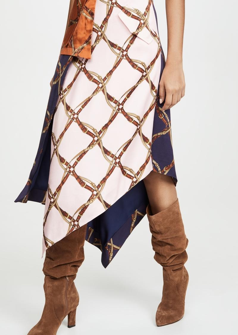 Jonathan Simkhai Saddle Print Handkercheif Skirt
