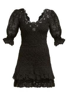 Jonathan Simkhai Scalloped-edge crochet-knit mini dress