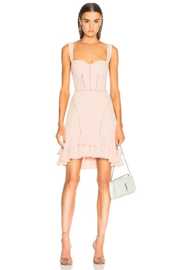 JONATHAN SIMKHAI Seersucker Bustier Mini Dress