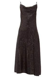 Jonathan Simkhai Sequin-embellished cowl-neck midi dress