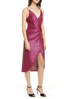 Jonathan Simkhai Sequin Wrap Front Dress