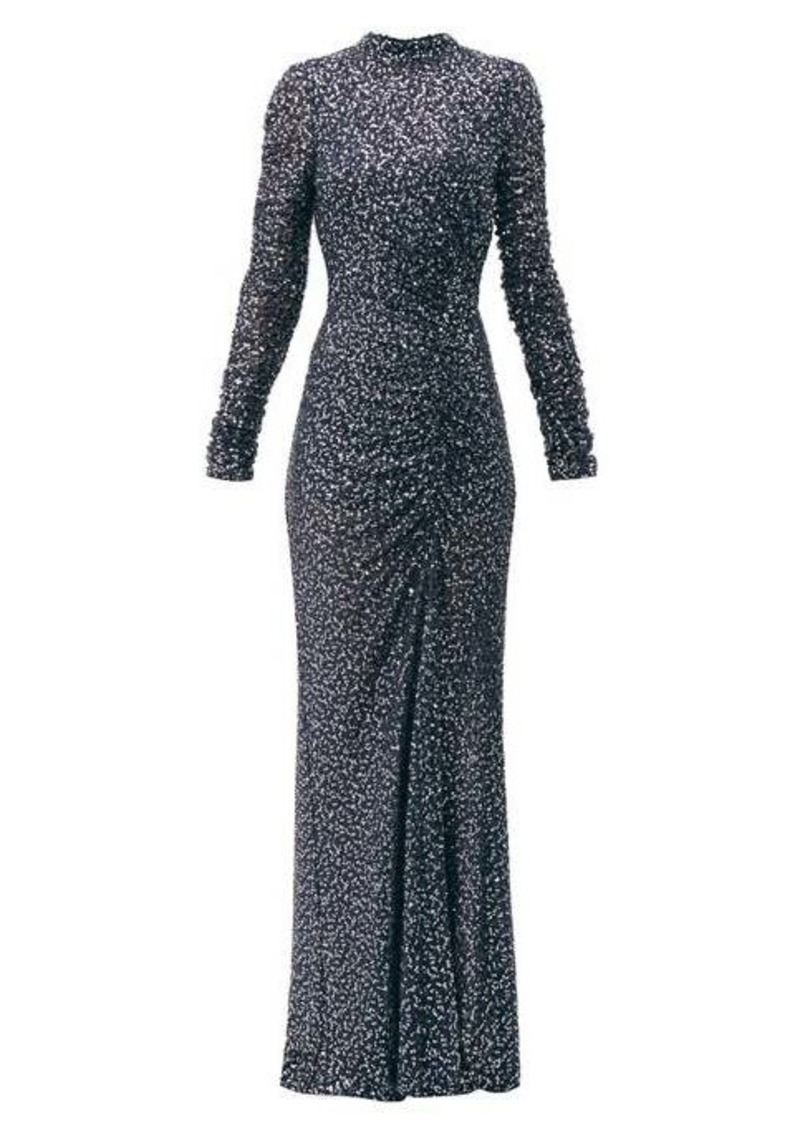 Jonathan Simkhai Sequinned high-neck gown
